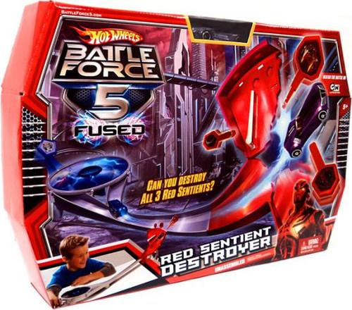 Hot Wheels Battle Force 5 Fused Red Sentient Destroyer Pl...