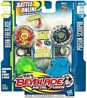 Hasbro Beyblade Metal Fusion Burning Firestrike 2-Pack #2