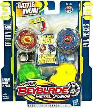 Hasbro Beyblade Metal Fusion Spiral Blitz 2-Pack #2 [Eart...