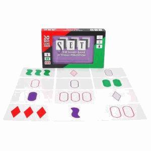SET Enterprises Set The Game of Visual Perception Card Game