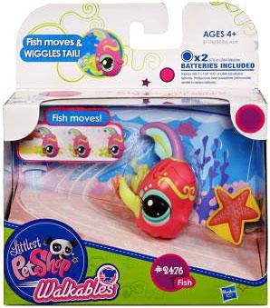 Hasbro Littlest Pet Shop Walkables Fish Figure #2476 [Wig...