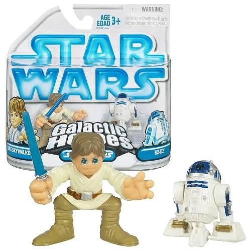 Hasbro Star Wars A New Hope Galactic Heroes 2008 Luke Sky...