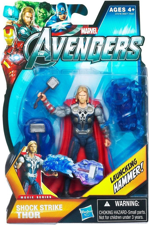 Hasbro Marvel Avengers Movie Series Shock Strike Thor Act...