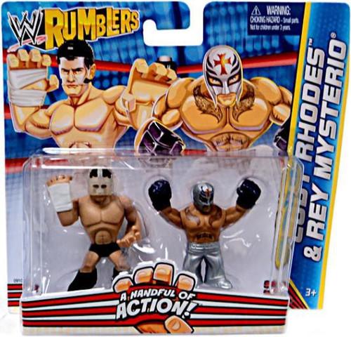 Mattel WWE Wrestling Rumblers Series 2 Cody Rhodes & Rey ...