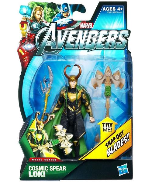 Hasbro Marvel Avengers Movie Series Cosmic Spear Loki Act...