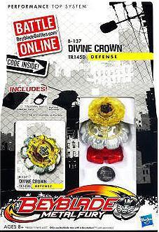 Hasbro Beyblade Metal Fury Divine Crown Single Pack B-137