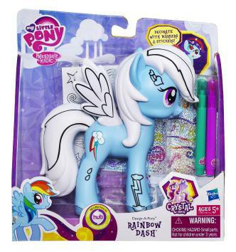 My Little Pony Friendship Is Magic Crystal Empire Fashion Style Rainbow Dash Figure Hasbro Toys