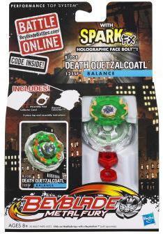 Hasbro Beyblade Metal Fury Spark FX Death Quetzalcoatl Si...