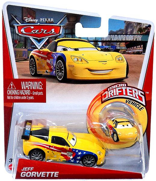Mattel Disney Cars Micro Drifters Jeff Gorvette Diecast C...