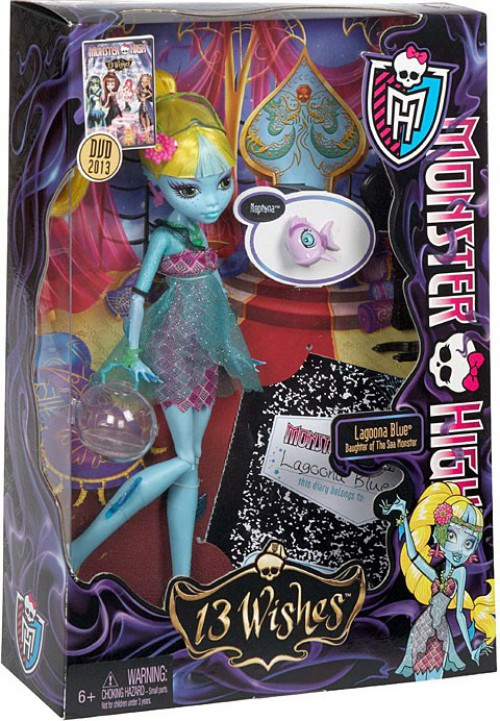 Mattel Monster High 13 Wishes Lagoona Blue 10.5-Inch Doll