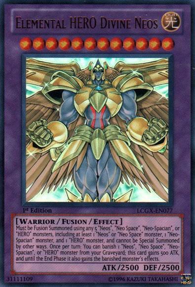 Elemental Hero God Neos YuGiOh GX Legendary Co...