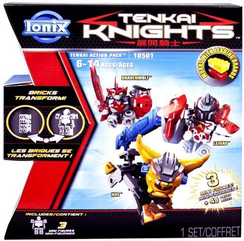Spin Master Tenkai Knights Bravenwolf, Leinad & HOS Minif...