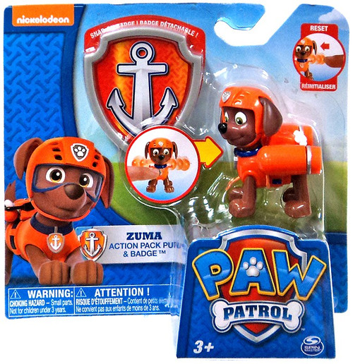 Spin Master Paw Patrol Action Pack & Badge Zuma Figure