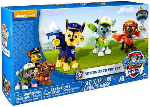 Spin Master Paw Patrol Action Pack Pup Set Chase, Rocky &...