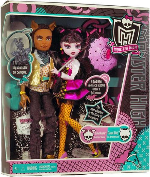 Mattel Monster High Draculaura & Clawd Wolf 10.5-Inch Dol...