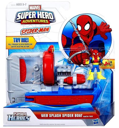 Spider Man Playskool Heroes Super Hero Adventures Web Splash Spider Boat Bath Toy. Spider Man Playskool Heroes Super Hero Adventures Web Splash