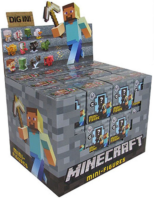 Toy Mystery Box : Minecraft stone series mystery box packs mattel toys