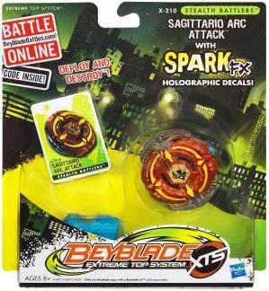 Hasbro Beyblade XTS Stealth Battlers Spark FX Sagittario ...