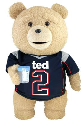 Commonwealth Ted 2 Ted in Jersey 24-Inch Talking Plush [E...