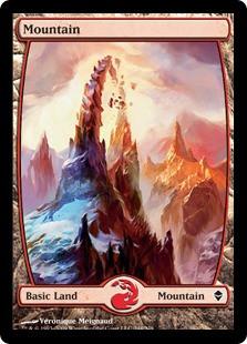 Wizards Of The Coast MtG Zendikar Basic Land Foil Mountai...