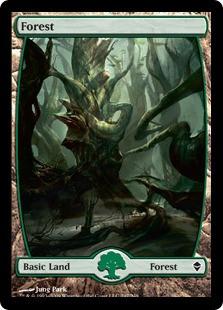Wizards Of The Coast MtG Zendikar Basic Land Foil Forest ...