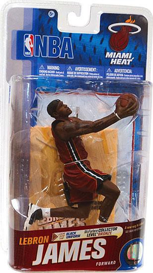 McFarlane Toys NBA Miami Heat Sports Picks Series 19 Lebron James Action Figure Red Jersey - ToyWiz