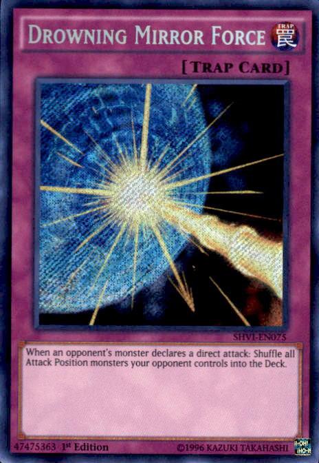 Yugioh Shining Victories Single Card Secret Rare Drowning