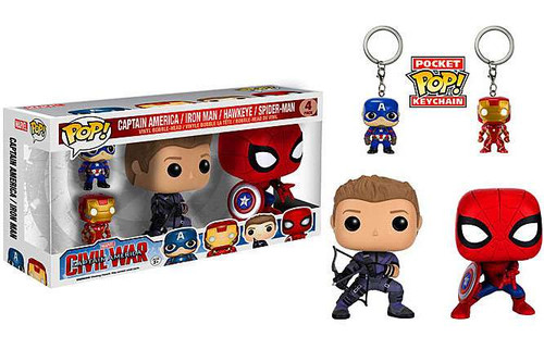 Funko POP! Marvel Captain America 3: Civil War 4-Pack Vin...