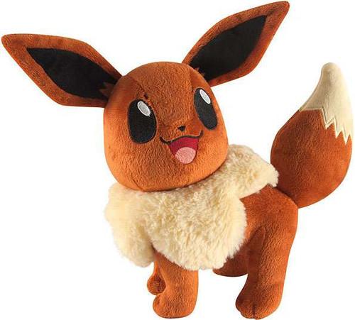 TOMY Pokemon Eevee 10-Inch Large Plush [Looking Up, Smiling]