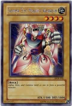 Konami YuGiOh Duelist of the Roses Secret Rare Gamma the Magnet Warrior DOR-003