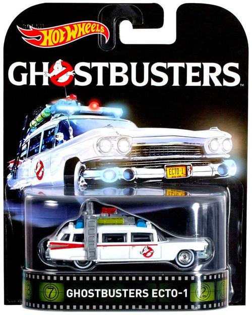 Ghostbusters Hot Wheels Retro Ecto-1 Die-Cast Car [2016]