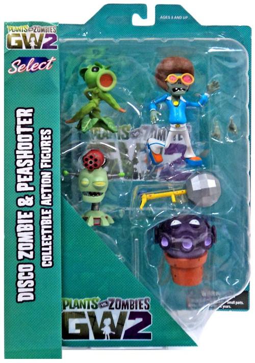 Plants Vs Zombies Garden Warfare 2 Select Series 1 Peashooter Vs Browncoat Disco Zombie Action