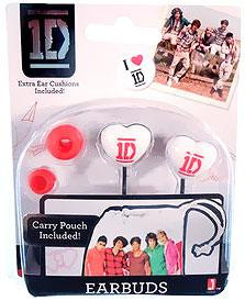 Jazwares One Direction 1D Pink & White Earbuds