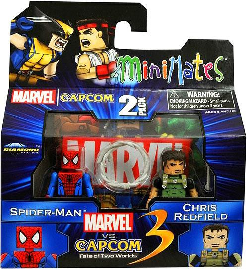 Marvel vs Capcom 3 Minimates Series 2 Spider-Man Vs. Chri...