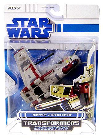 Hasbro Star Wars Transformers Crossovers 2008 Clone Pilot...