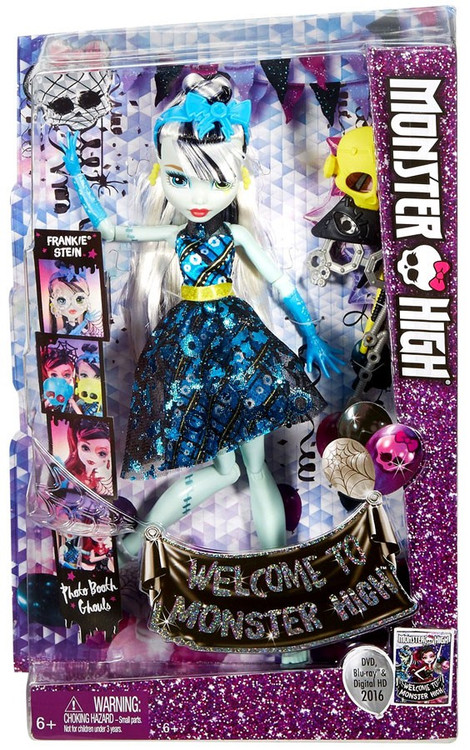 monster high welcome to monster high frankie stein doll. Black Bedroom Furniture Sets. Home Design Ideas
