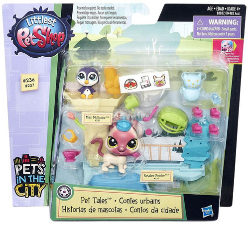 Hasbro Littlest Pet Shop Pets in the City Ice Skating Pet...