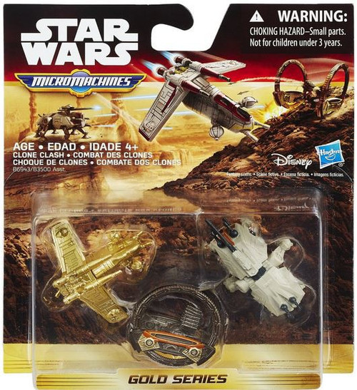 Hasbro Star Wars The Force Awakens Micro Machines Gold Se...