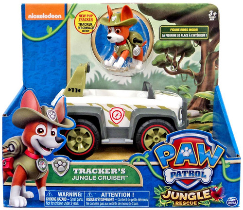 paw patrol jungle rescue trackers jungle cruiser vehicle
