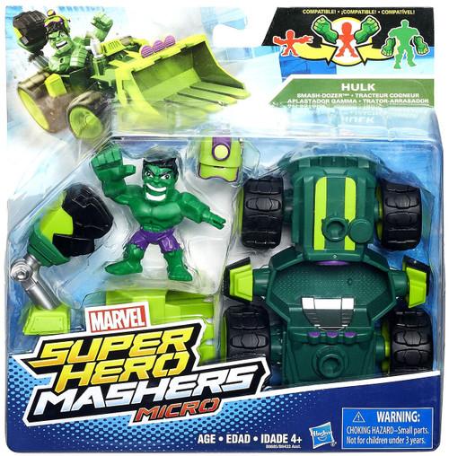Hasbro Marvel Super Hero Mashers Micro Hulk & Smash Dozer...
