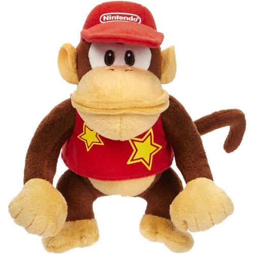 Jakks Super Mario World of Nintendo Diddy Kong 7-Inch Plush