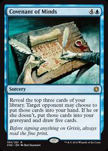 MtG Conspiracy: Take the Crown Rare Covenant of Minds #105