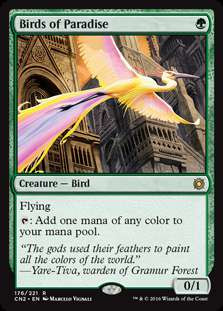 MtG Conspiracy: Take the Crown Rare Birds of Paradise #176