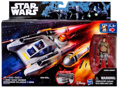 Hasbro Star Wars Rebels Y-Wing Scout Bomber 3.75-Inch Veh...