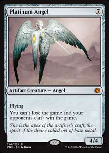 MtG Conspiracy: Take the Crown Mythic Rare Foil Platinum Angel #214