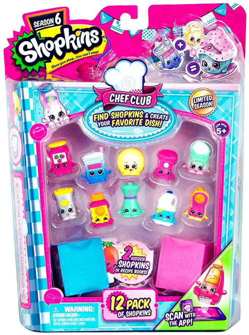Moose Shopkins Season 6 Chef Club Mini Figure 12-Pack
