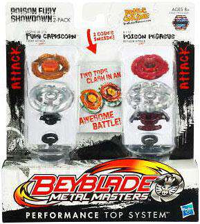Beyblade Metal Masters Poison Fury Showdown 2-Pack BB27A ...