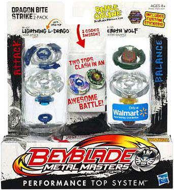 Beyblade Metal Masters Dragon Bite Strike Exclusive 2-Pac...