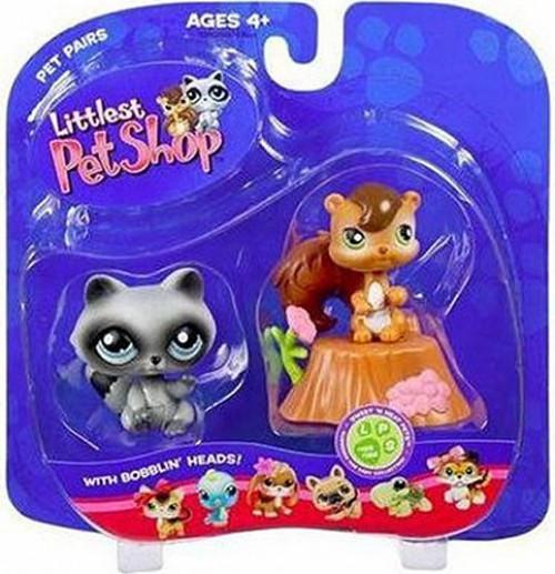 Hasbro Littlest Pet Shop Pet Pairs Chip Munk & Raccoon Fi...
