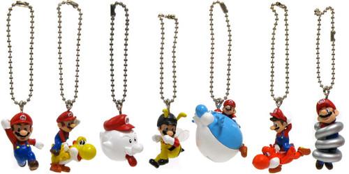 Super Mario Galaxy Mario Collection Set of 7 Micro Keychains